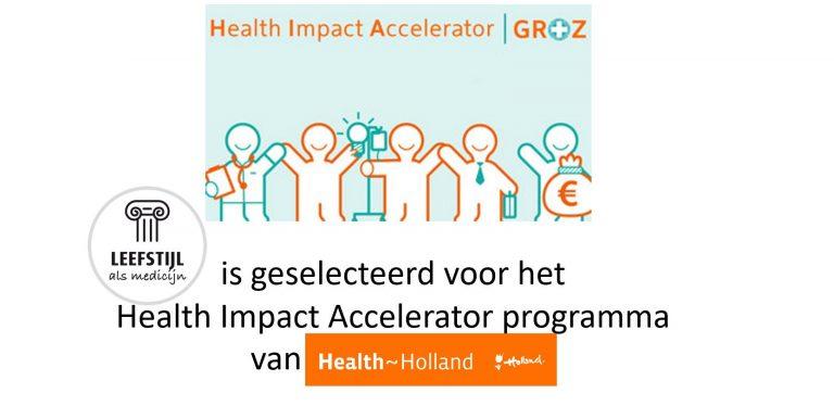 We zijn geselecteerd voor het Health Impact Accelerator programma