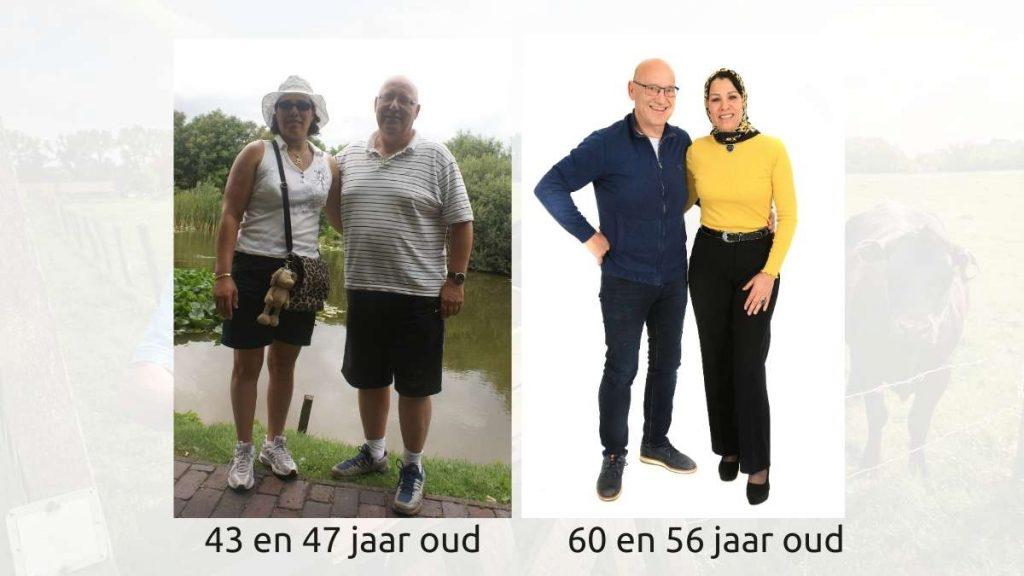 Saïda en Wim Tilburgs voor en na